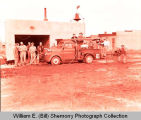 Alexander Fire Department with new fire engine, N.D.