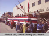 Band Day parade 1989, guests of honor and spectators, Williston, N.D.