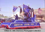 Band Day parade 1989, American Legion float, Williston, N.D.