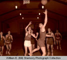 Basketball game in Williston Armory, N.D.