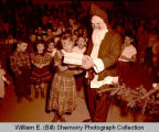 Children with Santa Claus, Williston, N.D.