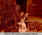 Children and Christmas tree, Williston, N.D.