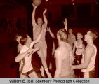 Conlin's Furniture versus unidentified team in old Williston High School gymnasium, N.D.