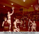 Dickinson Midgets versus unidentified team in old Williston High School gymnasium, N.D.
