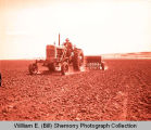 Farmer seeding grain, Williston, N.D.