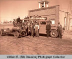 Epping Community Fire Department outside fire station, N.D.