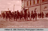 Company E marches on Decoration Day, Williston, N.D.