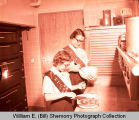 Girl Scouts baking, Williston, N.D.