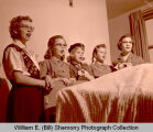 Girl Scouts singing, Williston, N.D.
