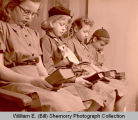 Girl Scouts with Bibles, Williston, N.D.