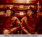 Joe Donohue and Gene LaLorme in Williston Fire Department station, N.D.