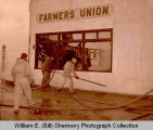 Grenora Fire Department fights Farmer's Union Oil fire, N.D.