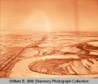 Lewis and Clark Bridge and Missouri River aerial photograph, Williston, N.D.
