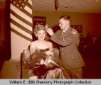 Military Ball Queen at Kiwanis Club in Plainsman Hotel, Williston, N.D.