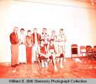 Watford City Wolves with trophies, Williston, N.D.