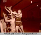 State Line basketball team versus unknown team in Williston Armory, N.D.