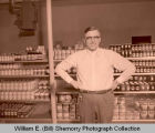 Unidentified grocery store owner, west side of Williston, N.D.