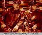 Swen Kleppe and Maynard Swenson in Williston Fire Department