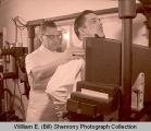 Williston Chief of Police L. T. Anderson gets first X-Ray for tuberculosis drive, Williston, N.D.