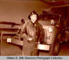 William E. (Bill) Shemorry in Williston Fire Department station