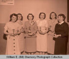 Women's bowling team with trophies, Williston, N.D.