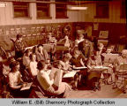 Williston High School band or music class, N.D.