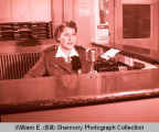 Williston Policewoman in Williston Police Station, N.D.