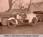Williston Police officer on motorcycle, Williston, N.D.