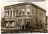 Odd Fellows Hall after fire, Williston, N.D.