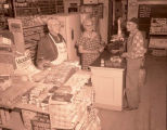 Albert and Lizzie Hinsverk in store, West Bonetraill, N.D.