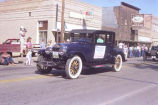 Alexander Old Settler's parade 1988, McKenzie County National Bank, N.D.