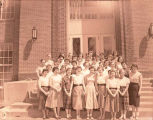 Band Day 1950s hostesses, Williston, N.D.