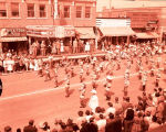 Band Day parade 1956, Humboldt Lions Junior Band, N.D.