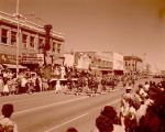 Band Day parade 1961, Regina Kiltie Band, Williston, N.D.