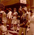Band Day parade 1964, spectators outside Dee Bee's, N.D.