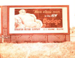 Crighton Motor Company billboard, Williston, N.D.