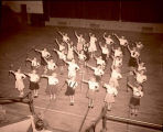 Majorette class in Williston High School, N.D.