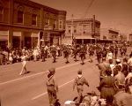 Band Day parade 1959, Williston Municipal band, Williston, N.D.