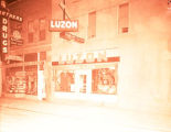 Luzon Cafe exterior at night, Williston, N.D.