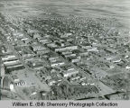Williston aerial photograph, cityscape, Williston, N.D.