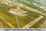 Sloulin Field International Airport aerial view, Williston, N.D.