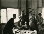 WWII troops in press hostel, China