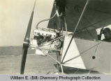 Ford Model-T motor installed on heath parasol airplane, North Dakota