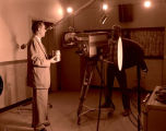 KUMV-TV commercial filming, Williston, N.D.