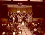 Massed choir in Williston High School auditorium, N.D.