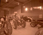 Tractor show in Williston Armory, N.D.