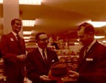 J.C. Penney store employee and customer grand opening, Williston, N.D.