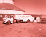 Peterson's Creamery and milk truck, Williston, N.D.
