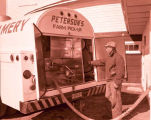 Peterson's Creamery milk truck, Williston, N.D.