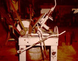 Charlie Van Allen's disc grinding machine, Williston, N.D.